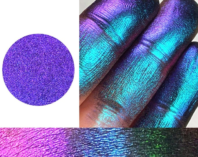 DELUSIONAL- *Pressed* - Extreme Multichrome Colorshift Chameleon - multi chromecolor changing purple aqua blue pink