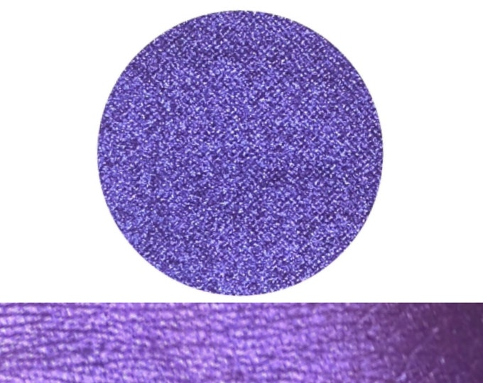 WICKED PLUM - Pressed Eyeshadow Pigment - Satin shimmer - vibrant blue based purple with a hint of magenta