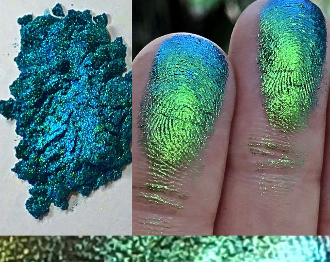 TANGLED MERMAID *loose* - Extreme Multichrome Colorshift Chameleon - loose eyeshadow/ pigment- multi chrome color changing blue green indigo
