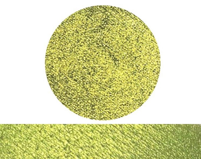 WASABI - Pressed Eyeshadow Pigment- Golden Lime Green Shimmer