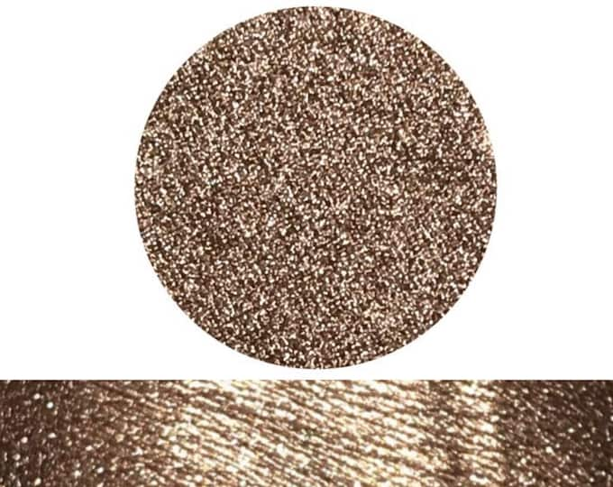 EXPENSIVE TASTE - Pressed Foiled Eyeshadow Pigment - Burgundy based Bronze Champagne