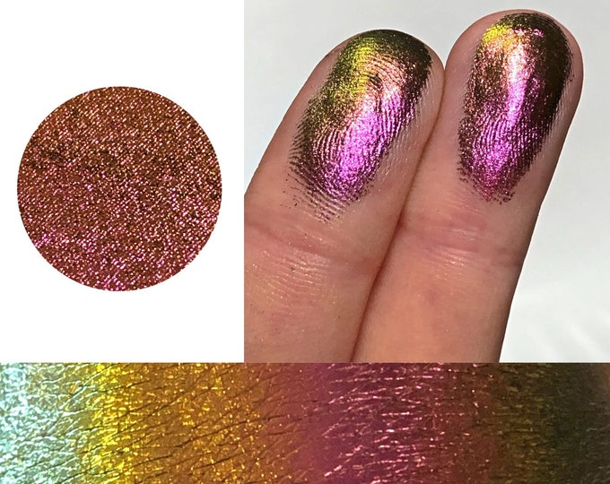 ROARING ROSE *Pressed* - Extreme Multichrome Colorshift Chameleon - multi chromecolor changing pink maroon gold green