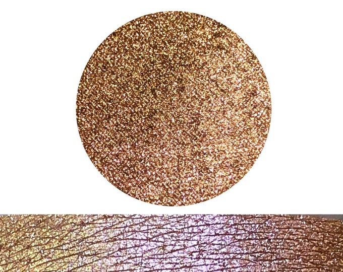 SUNSET SMOOTHIE - Chameleon- Pressed Eyeshadow/ Pigment - Sparkly Chameleon color shifting Bronze pink copper gold