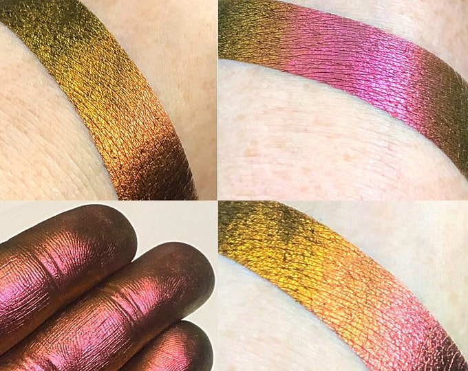 ENIGMA- *Loose* - Extreme Multichrome Colorshift Chameleon - multi chromecolor changing rust red orange green gold pink
