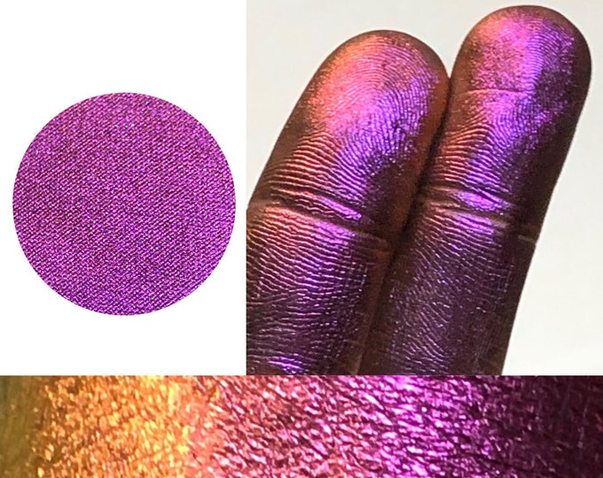 FUCHSIA FIRE *Pressed* - Extreme Multichrome Colorshift Chameleon- eyeshadow / pigment- multi chrome color changing purple pink orange