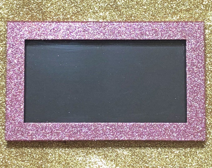 Empty LARGE Magnetic Palette - Pink Sparkly Glitter