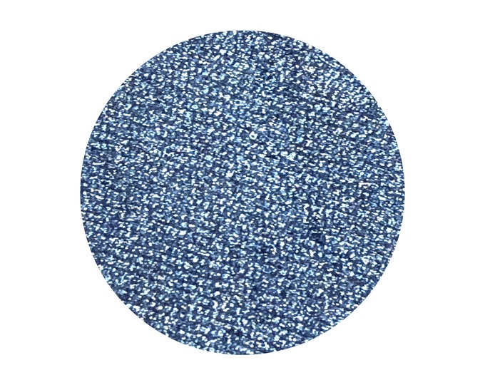 BLUE MOON - Pressed Foiled Eyeshadow Pigment- Bright Metallic blueberry Navy Blue
