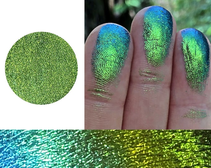 TANGLED MERMAID *Pressed* - Extreme multichrome Colorshift Chameleon - multi chrome color changing blue gold green indigo
