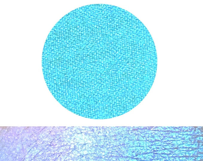 OPALESCENT - Chameleon Pressed topper / eyeshadow/ highlighter/ Pigment- multichrome aqua blue pink green purple