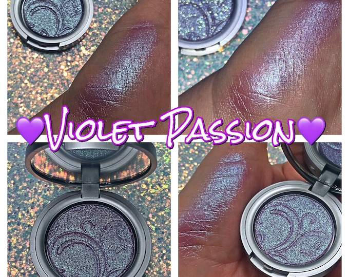 VIOLET PASSION- Special Edition Pressed Highlighter/ Eyeshadow Pigment - Super sparkly chameleon purple/ magenta / teal