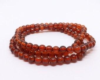 Garnet Multi layer Bracelet, Granat Armband, Orange Garnet, Spessartite Jewelry, January Birthstone, 2nd Anniversary, valentines day gift