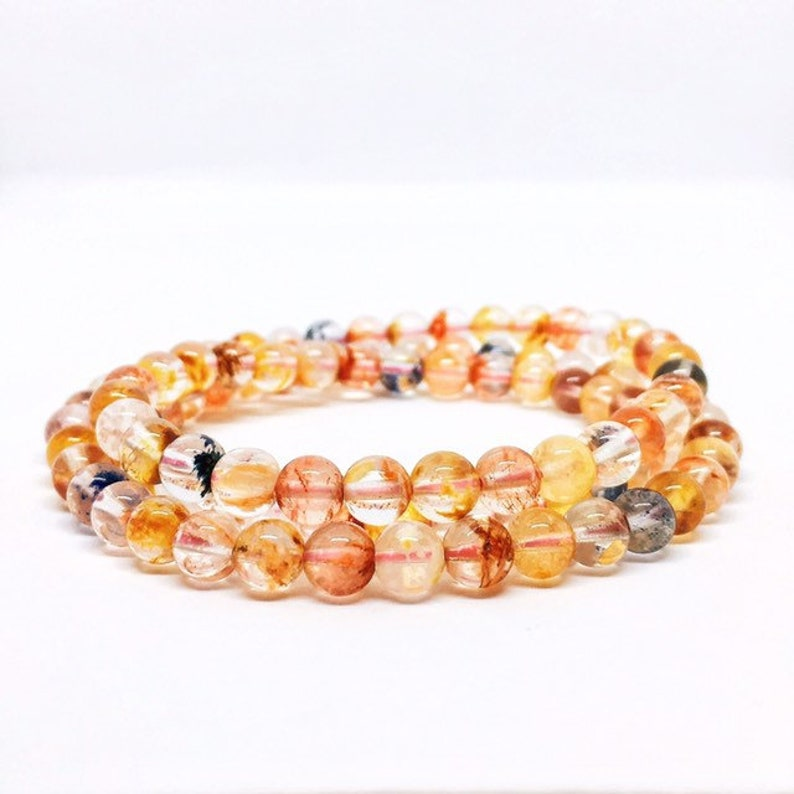 Colorful Lodolite Bracelet Multi layer Bracelet Inclusion image 0