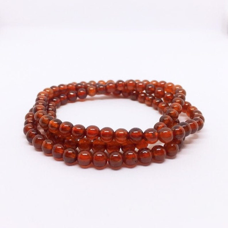 Garnet Multi layer Bracelet Granat Armband Orange Garnet image 0
