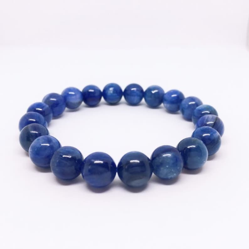 Kyanite Bracelet AAA Kyanite Jewelry 10mm Gemstone Bracelet image 0