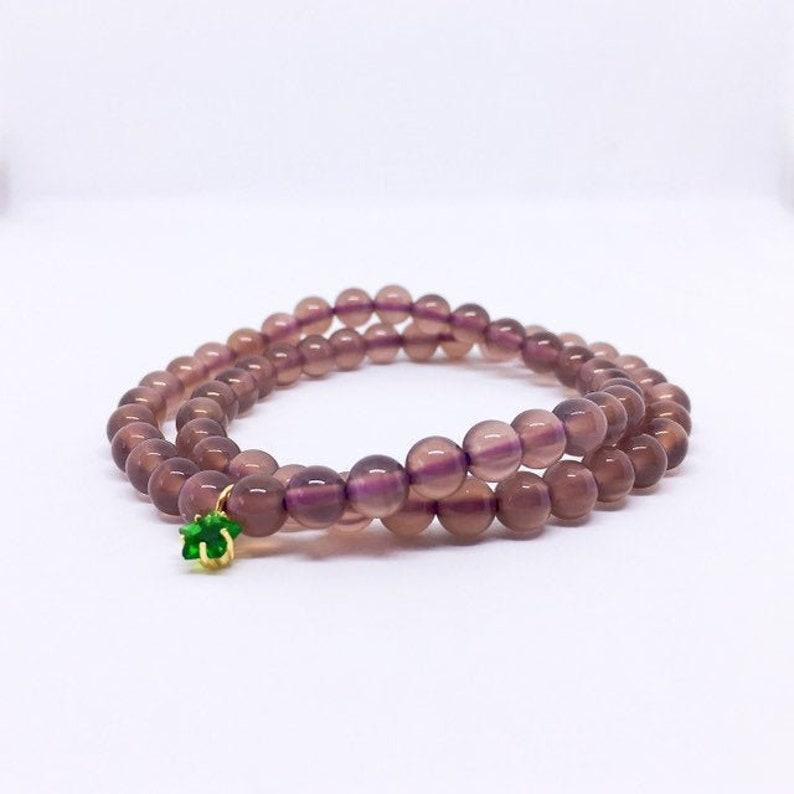 Purple Chalcedony Bracelet Genuine Undyed Turkey Chalcedony image 0