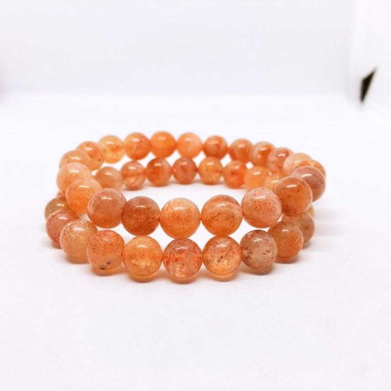 Sunstone Bracelet Sonnenstein Armband Prosperity Jewelry 10 Millimeters