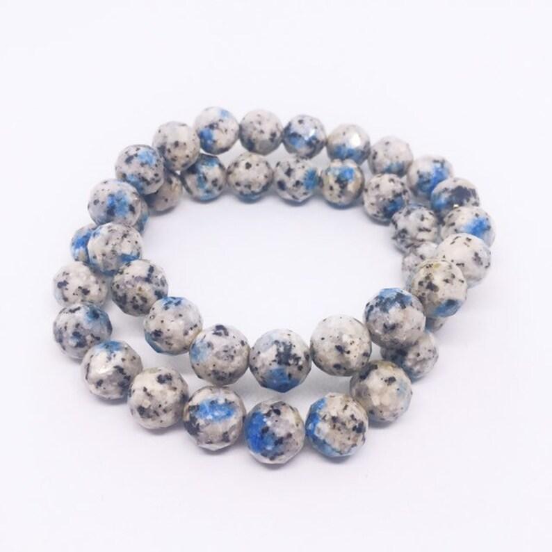 K2 Granite Bracelet K2 Crystal Faceted 10mm Bracelet K2 image 0