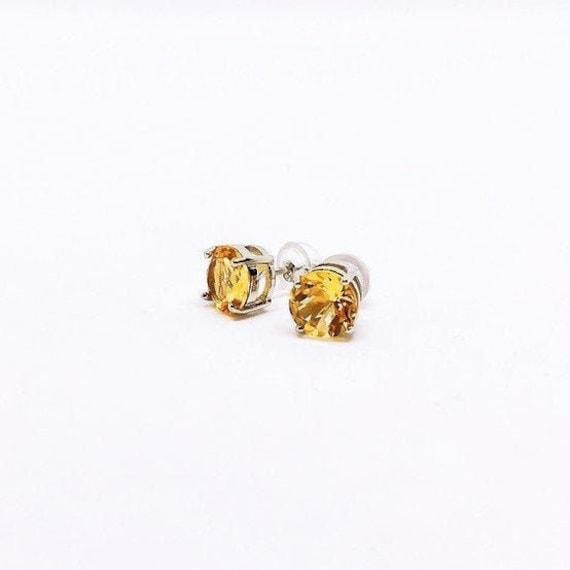 Citrine earrings 925 Sterling silver   birthday gifts   birthstone  November faceted gemstone drop earrings