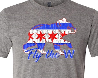 Fly The W - Chicago Cubs T-Shirt