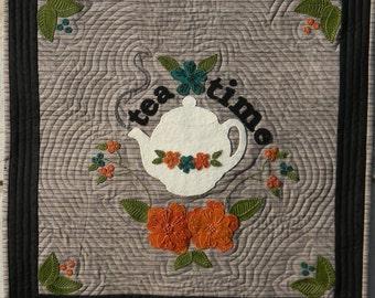 Tea Time Wool Applique Quilt Pattern