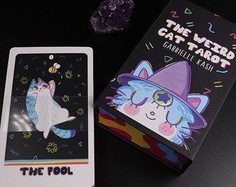PRE ORDER- The Weird Cat Tarot Deck and Guidebook