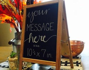 Tabletop chalkboard