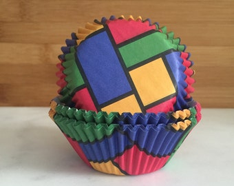 a4ae7ad9a26 Color Block Cupcake Liners