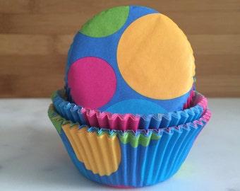 b41134d795d Retro Dots Party Cupcake Liners
