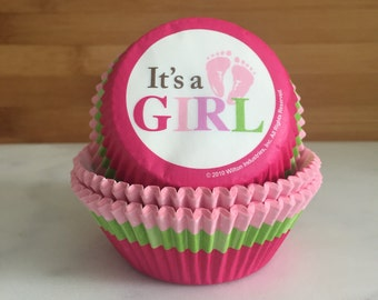 449835cf923 It s a Girl Cupcake Liners