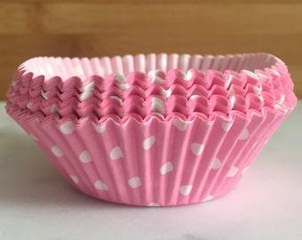 d1c8fafb815 Light Pink   White Polka Dot Cupcake Liners