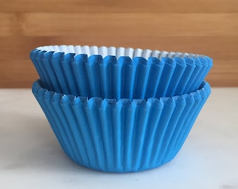 Blue Cupcake Liners, Standard Sized, Baking Cups (50)