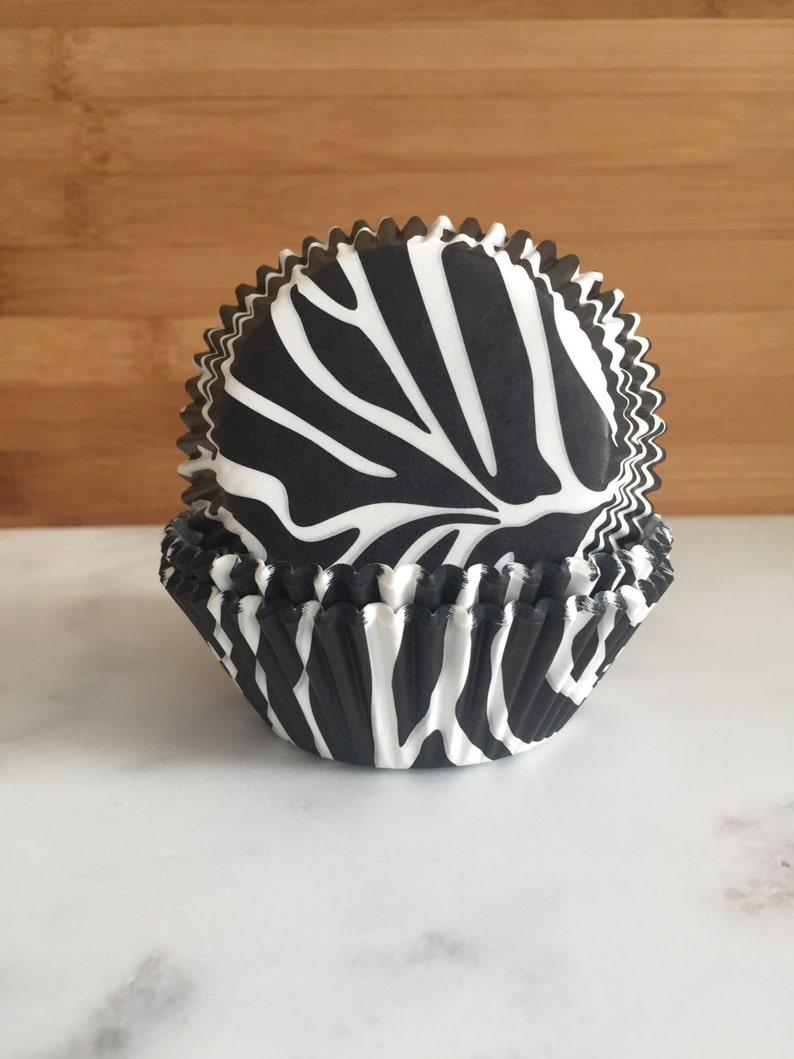 50 Zebra Cupcake Liners Standard Sized Baking Cups