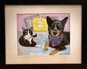 Pet Portrait for Two Pets