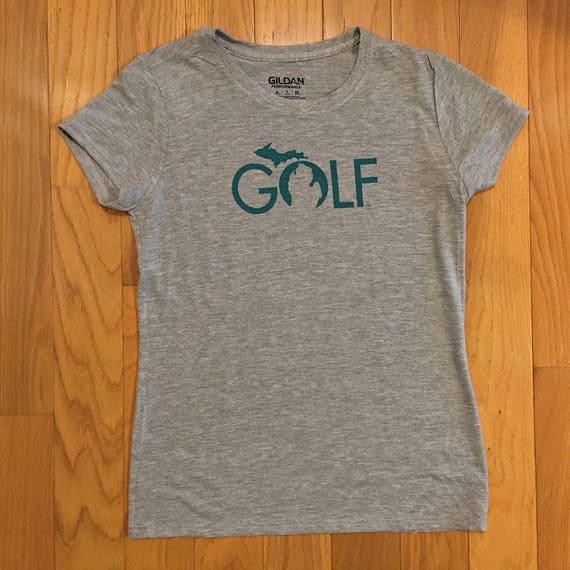 1fc9d29b19b Michigan Golf Women's gray tee t-shirt summer Mother's | Etsy