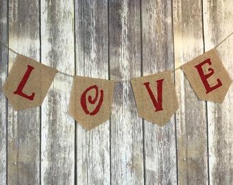 Valentines Day banner, Love Banner, Valentine Banner, Valentine Photo Prop
