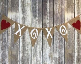 XOXO Banner, Valentines Day Banner, Valentine Banner, Valentine Photo Prop, Valentine's, Valentine's Gift, Valentine's Decoration Banner