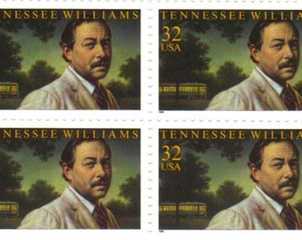 af24b0cf86b13 4 Unused Scott   3002 Plate Block Tennessee Williams Stamps 1995