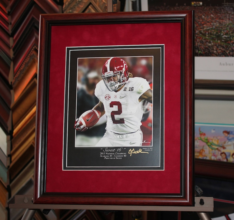 separation shoes 67fb9 f4ed0 ALABAMA football Sweet 16 print signed by Greg Gamble 11x14 Framed