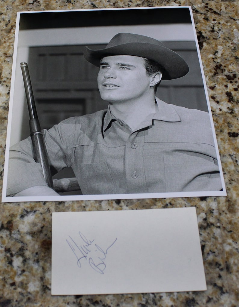 Charles Briles In The Western Series The Big Valley Signed Autograph Index Card With 1 Free 8x10 Black And White Print Photo
