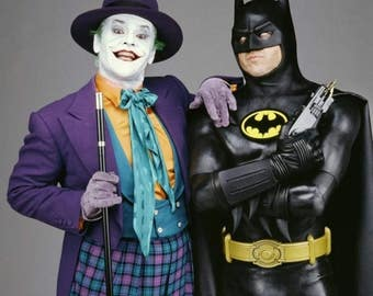 Jack Nicholson Michael KEATON BATMAN & JOKER Color Photo Print