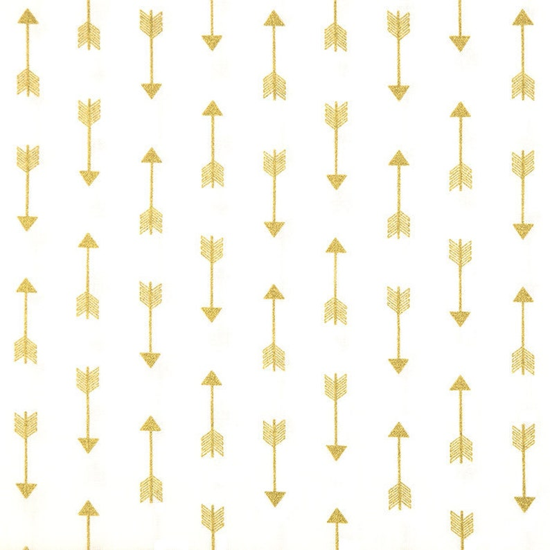 Gold and White Arrow Brothers /& Sisters 42x7 Fabric Remnant