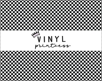 c17c7051 Black and White Checkered Vinyl - Smaller Scale - Choose From Adhesive Vinyl,  Laminated or Heat Transfer Vinyl HTV - Checkerboard
