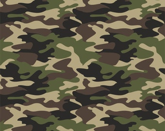 5b5dde07f Army Camo Printed Vinyl - Smaller Scale Camouflage - Choose From Adhesive  Vinyl, Laminated or Heat Transfer Vinyl HTV