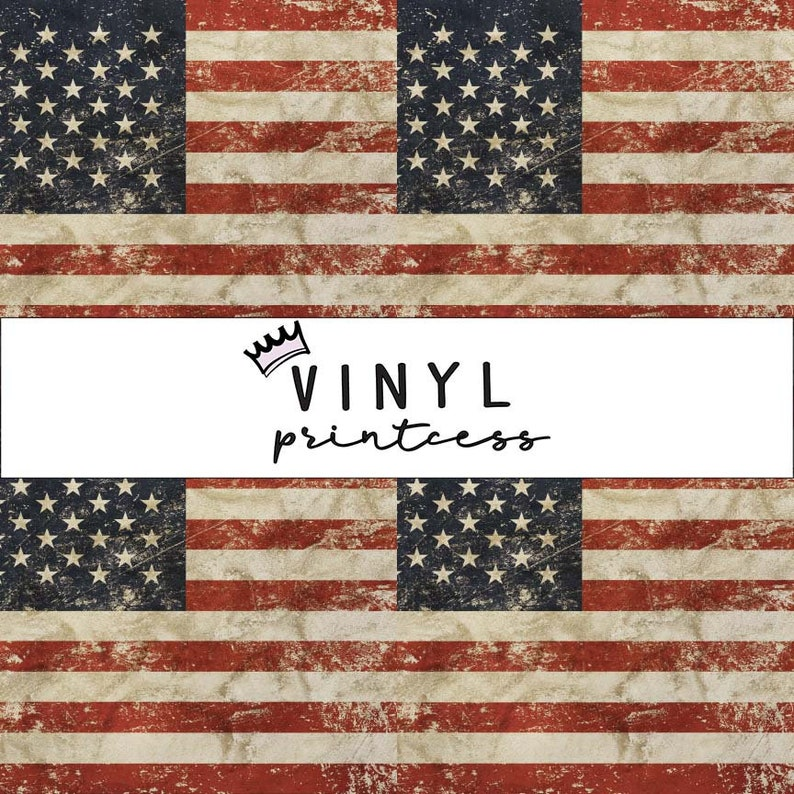 735a0986996 Distressed American Flag Printed Vinyl Smaller Scale