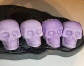Purple passion mini skull wax melts goth Halloween gift birthday present tarts