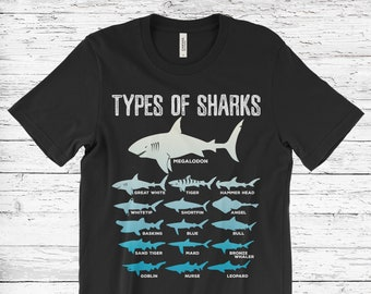 Types of sharks | Etsy