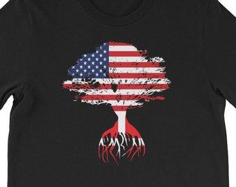 b43b1272f American Flag Danish Roots Unisex T-Shirt