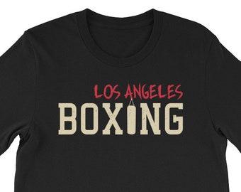 LA Los Angeles Boxing T-Shirt, boxing shirt, boxing, boxing gift, boxer shirt, boxing t shirt, boxing shirts, boxing t-shirt, boxing lover