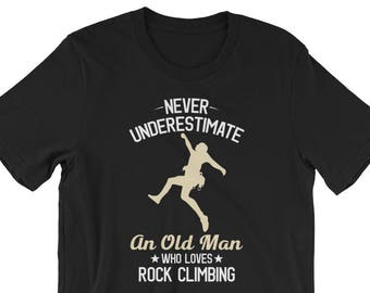 Men's rock climbing shirt, climbing shirt, rock climbing, mountain climbing, hiking shirt, rock climbing gift, climbing gift, climbing