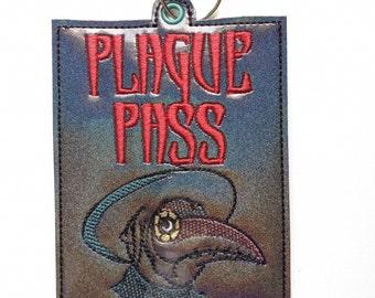 Compact Plague Doctor Plague Pass vaccination card